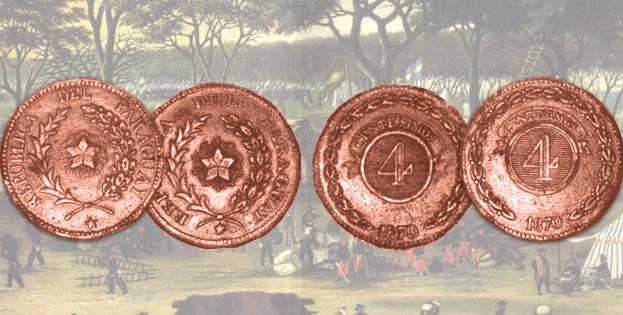Los Cobres Paraguayos de 1870 Acuñados enAsunción