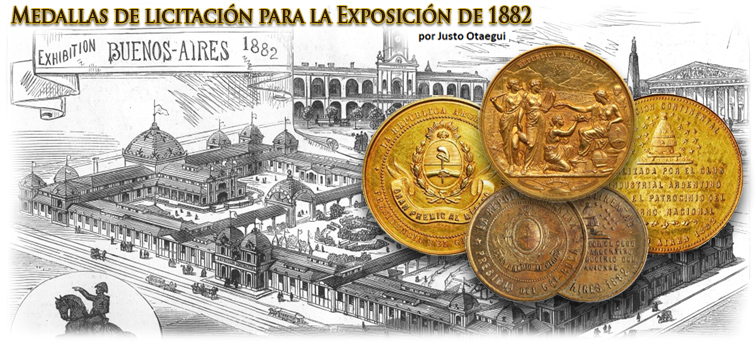 Medallas de licitación para la Exposición de1882