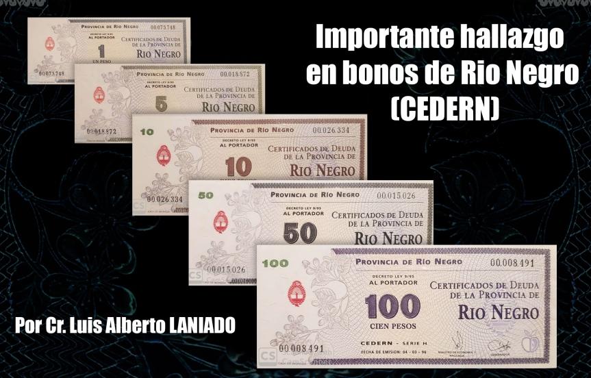 Importante hallazgo en bonos de Rio Negro(CEDERN)