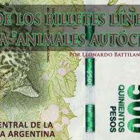 """Flores de los billetes línea PESOS Familia """"animales autóctonos"""""""