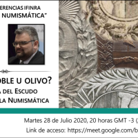 """Ciclo de conferencias IFINRA """"Hablermos de numismática"""": ¿Laurel, roble u olivo? La corona del Escudo argentino en la Numismática"""
