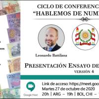 """Ciclo de conferencias IFINRA """"Hablemos de numismática"""": Presentación, Ensayo de Calatogación - Versión 4"""