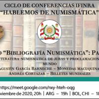 """Ciclo de conferencias IFINRA """"Hablemos de numismática"""": Bibliografía Numismática - Parte 2"""