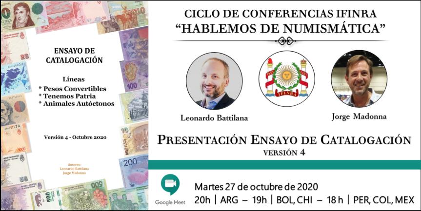 Ver conferencia IFINRA: Ensayo de Catalogación. Líneas: Pesos convertibles; Tenemos Patria; Animales autóctonos. Version 4: Octubre2020