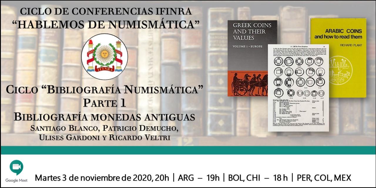 Ver conferencia IFINRA: Bibliografía Numismática – Parte 1: Bibliografía monedas antiguas