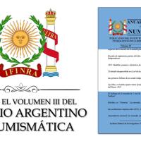 YA SALIÓ EL VOLUMEN III DEL ANUARIO ARGENTINO DE NUMISMÁTICA