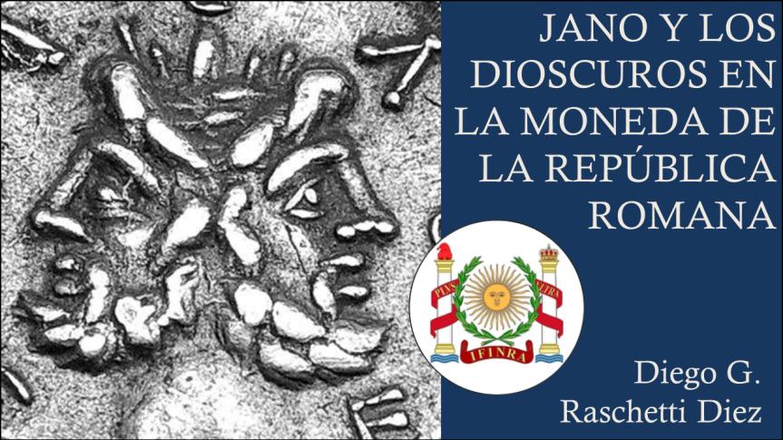 Jano y los Dioscuros en la moneda de la RepúblicaRomana